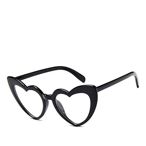 DEER HOUSE Damen Sonnenbrille mit Herzen, übergroß, Katzenauge, Festival, Party, Vintage Gr. Einheitsgröße, A3