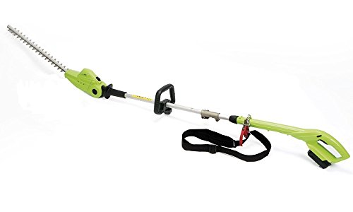 Garden Gear 18V Telescopic Cordless Hedge Trimmer Long Reach Extendable 2.45m Adjustable Head Lithium-ion Battery (HedgeTrimmer)
