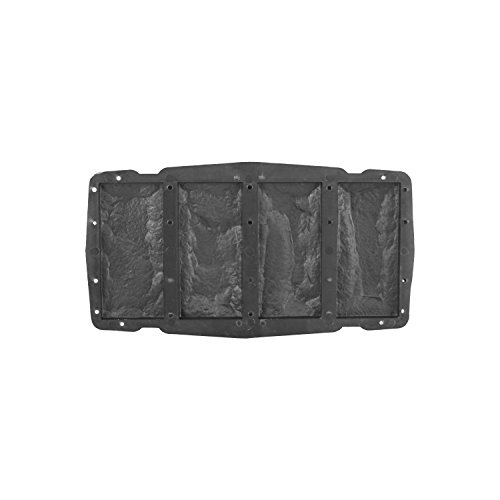 @tec Betonform Schalungsform Gießform Polypropylen (Kunststoff) - Klinker/Wandverkleidung 4 Riemchen Steinoptik - 4x (7,6 x 16,2 cm)