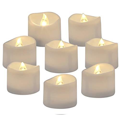 Homemory 24 led flammenlose kerzen, 3.8cm elektrische flackernde batteriebetriebene teelichter, led votivkerzen warme weiße ()