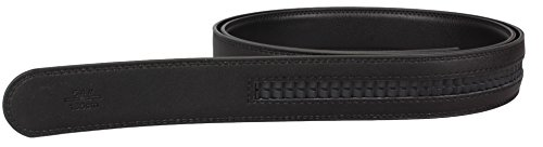 2Store24 Automatic leather belt for black leather - Split leather automatic buckle belt - approx.3.5cm wide - length 160cm