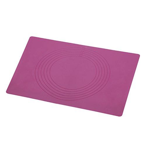 Xavax Silikon Backfolie (Groß 45 x 32cm, Dauerbackfolie antihaft-Wirkung, zuschneidbar, wiederverwendbar, geeignet für Pizza, Kuchen, Biskuit, Fondant, spülmaschinengeeignet, Backpapier) brombeer