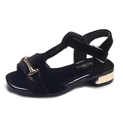 Mädchen T Strap Sandale Sommer Weiche Sohle Offene Zehe Rutschfeste Prinzessin Sandale Wohnungen Strand Schuhe für Kinder (Jessica Simpson Wohnungen Schuhe)