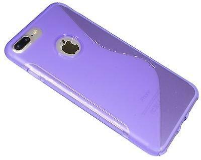iPhone 8 PLUS // S-Line TPU SchutzHülle Silikon Hülle Silikonschale Case Cover Zubehör Bumper in Pink @ Energmix Lila
