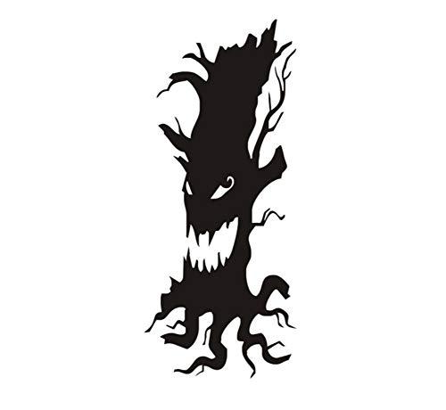 Scary Baum Halloween Wandaufkleber Wohnzimmer Wohnkultur Aufkleber Poster Hintergrund Schwarz Schablone Vinyl Wandaufkleber Abnehmbare 58 * 139 cm