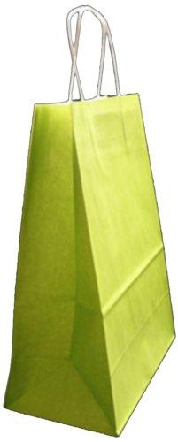 3P, Sacchetti di carta Kraft, 24 x 12 x 31 cm, 25 pz., Verde (Green Tint)