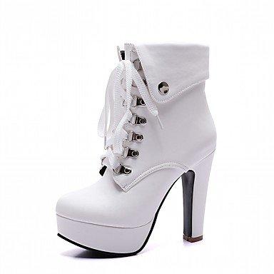 Wuyulunbi @ Chaussures Femmes Hiver Confort Nouveauté Combat Bottes Bottes Chunky Talon Bout Rond Bottines / Bottines Avec Lacets Pour Us2.5 / Ue32 / Uk1 / Cn31