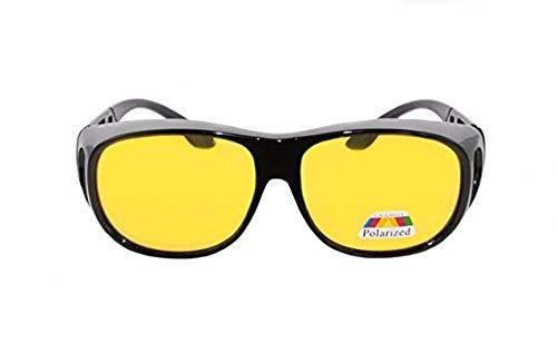 Jasbo Rainbow Safety Überbrille Sonnenbrille Für Brillenträger Schutzbrille Für Sport Radfahren Skifahren Angeln Auto Nachtsichtbrille Polarisierte Gläser RWN10