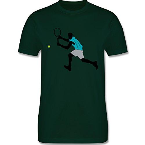 Tennis - Tennis Squash Rückhand - Herren Premium T-Shirt Dunkelgrün