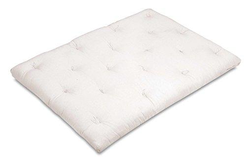 Natural confort futon 140x200 1005 cotone + doppio strato di lattice + cocco (materasso giapponese), ecru' - made in italy