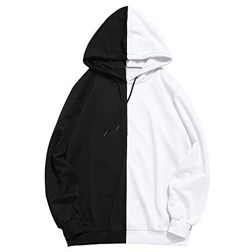YanHoo Suéter de Costura de los Hombres Mens Patchwork Casual Slim Fit con  Capucha Outwear Blusa d2e8d7a4c36