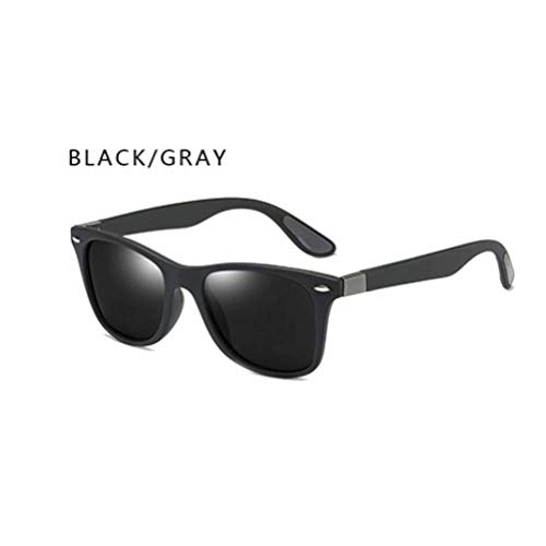 GAOHAITAO Fashion Designer Polarized Sunglasses Men Women Driving Square Frame Sun Glasses Male Goggle Shades Coating Mirror Female,blackgray