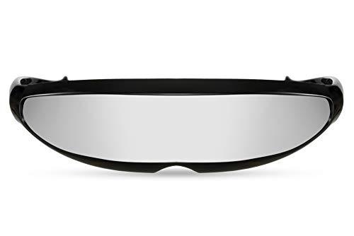 Cheapass Sonnenbrille Schwarz RoboCop UV-400 Verspiegelt Festival-Brille Plastik Männer Herren