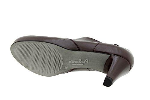 Scarpe donna comfort pelle Piesanto soletta estraibile 5234 stringhe scarpe di sera comfort larghezza speciale Burdeos