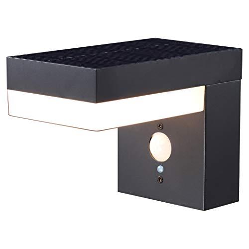 Proventa | Design Solar LED-Leuchte mit Bewegungsmelder | Außenleuchte mit Bewegungsmelder | Außenlampen | Wandleuchte | Pfostenleuchte | Gehwegleuchte | Außenleuchte | Solarleuchten | 6 W | 600 Lumen