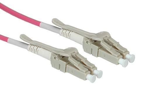 ROLINE LC/LC LWL Netzwerkkabel | Glasfaser Kabel | OM4 Duplex Patchkabel Low Loss | Violett 15 m - Multimode Fiber Channel Kabel