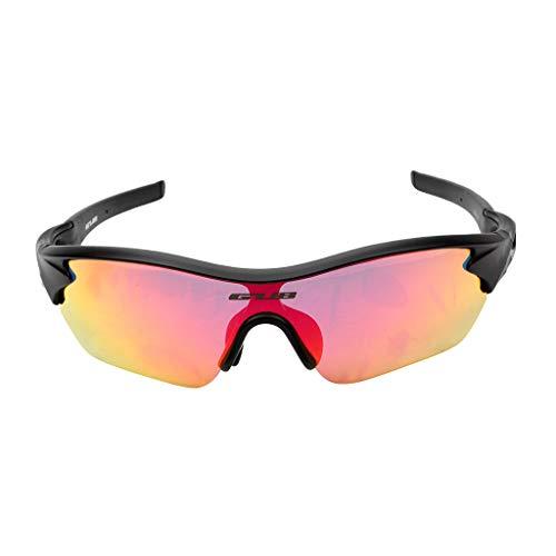 Polarisierte Radsportbrille Sport Sonnenbrillen Brille UV400 Linse - Schwarz