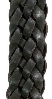 Lederzügel, geflochten, schwarz Full