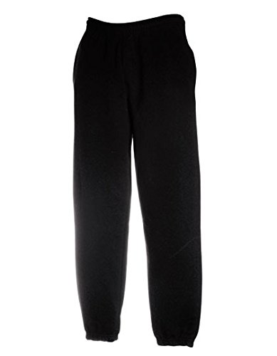 Loom-hosen Of Fruit The (Fruit of the Loom Classic Jog Pants SCHWARZ,XXL Schwarz,XXL)