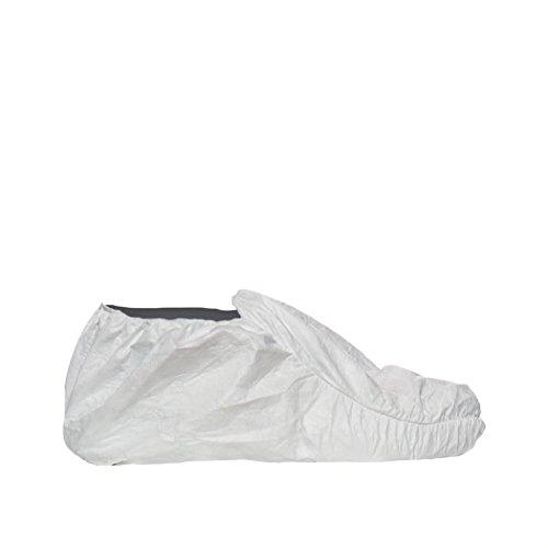DuPont Modell POSA Überziehschuh mit rutschhemmender Sohle, Tyvek, Größe 42-46, Weiß (20er Pack)