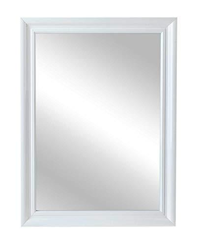 Spiegel - Rahmen in weiß Hochglanz - 60 x 45 cm - inkl. Aufhänger (Rechteckiger Spiegel Ohne Rahmen)
