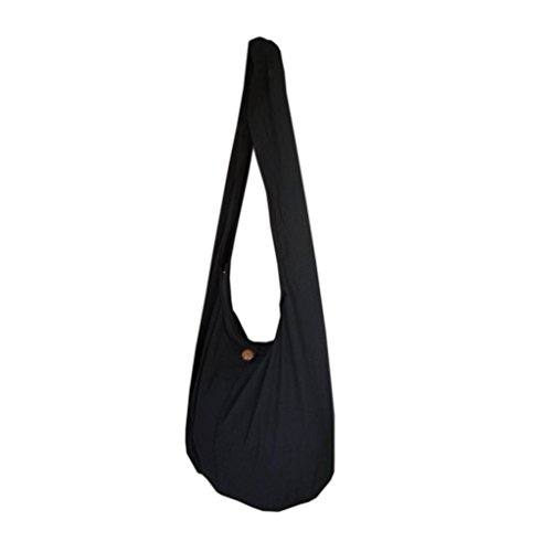 Hobo Womens Medium Handtasche (PANASIAM Shoulderbag Uni black L)
