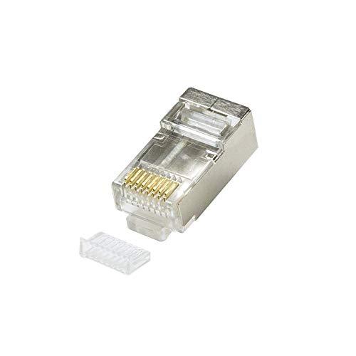 LogiLink Modularstecker CAT5 geschirmt mit Einfädelhilfe 100 Stück -