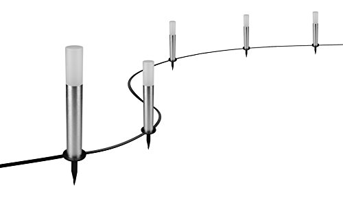 Osram Smart+ Gardenpole LED Gartenleuchte mit fünf Spots in 8,5 m Länge,...