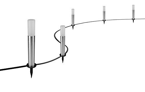 garten bodenleuchten Osram Smart+ LED ZigBee Außen-/Gartenleuchte, Warmweiß bis tageslicht, dimmbar, RGB Farbwechsel, 5 Spots, Alexa kompatibel