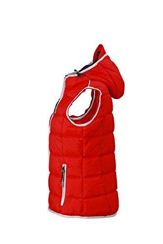 James & Nicholson Damen Jacke Weste Ladies' Maritime Vest Red/White