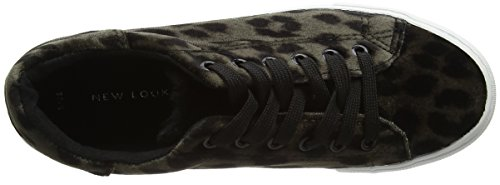 New Look Mroar, Basses Femme Multicoloured (Stone-Leopard Print)