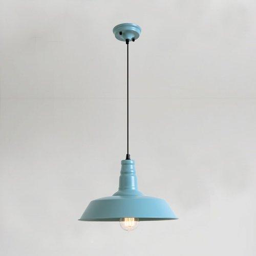 Zhang Ying ZY Bunte Topfabdeckung Kronleuchter Moderne Minimalistische Schlafzimmer Esszimmer Lampe Cafe Macaron 1-Light Pendelleuchte E27 Behälter Deckenleuchte (Farbe : Blue) Light Blue Dessert