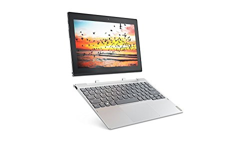 Price comparison product image Lenovo Miix 320-10ICR 10-Inch Tablet-PC - (Silver) (Intel AtomZ8350 Processor, 4 GB RAM, 64 GB SDD, Intel HD 400 Graphics, 4G/LTE Supported, Windows 10 Pro)