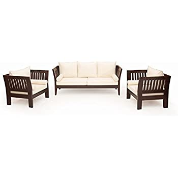 Tremendous Furnitureshri Wooden Sofa Set Couch Brown 3 1 1 Sets Gamerscity Chair Design For Home Gamerscityorg