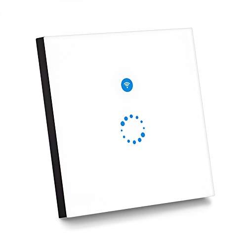 Sonoff Touch Schalter( Funktioniert mit Amazon Alexa [Echo, Echo Dot] und Google Home ) 1-Weg Touchscreen Lichtschalte Wasserdichter Wandschalter Touch Panel Schalter - weiß(Neutralleiter Benötigt) -