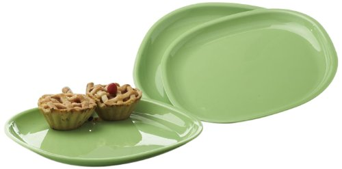 Signoraware Square Full Plate Set, Set of 3, Parrot Green