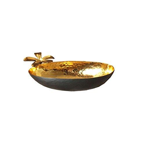 Imlistreet Tradition décorative Faite à la Main en cuivre Petite décoratifs Ovale Cuivre Antique Bol
