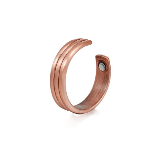 (CPR-0281) Wollet Jewelry /Women/Men's Adjustable Healthy Magnetic Copper Ring for Arthritis