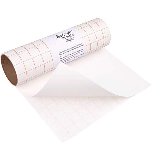 TRANSFER PAPIER mit Gitterraster - 30.5 cm x 2.4 m Rolle - Perfekt für Vinyl Klebefolien von CRICUT, CAMEO u.a. - Perfekt für Wände, Schilder, Aufkleber, Fenster und glatte Oberflächen