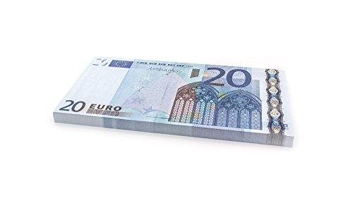 Cashbricks 75 x €20 Euro Spielgeld Scheine - vergrößert - 125% Größe - Blaue Euro-schein