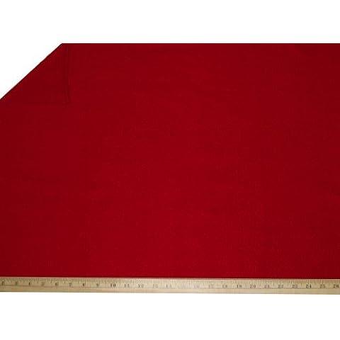 """LA Linen â""""¢ Polar Fleece by the yard 58/60-Inches Wide, Red by LA Linen"""
