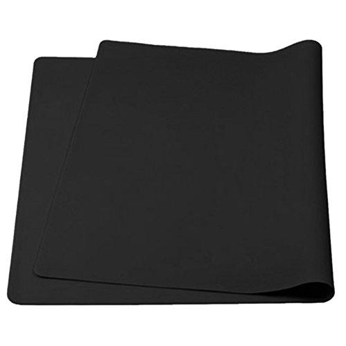 aspire épaissir antidérapant étanche en Silicone Sets de Table Sets de Table Flexible Extra-Large, 1pièce, Noir, Taille Unique
