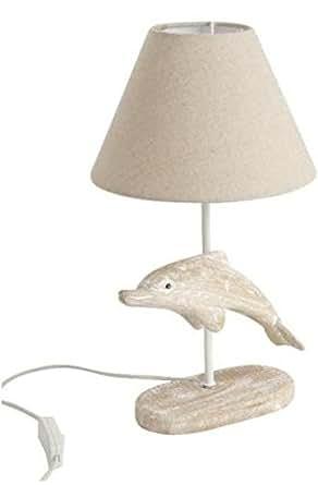 Lampe de chevet en bois dauphin