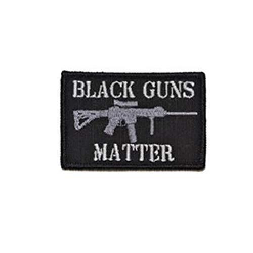 """Aufnäher mit Aufschrift""""IT is What IT is Funny Patch"""", bestickt black guns"""