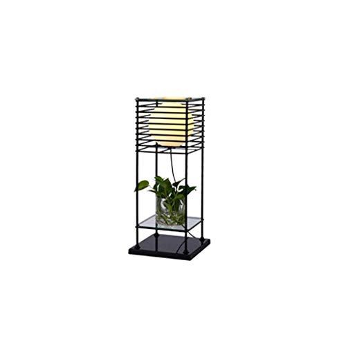 LED Stehlampen Modern minimalistisch im europäischen Stil Wohnzimmer Schlafzimmer Stehlampe mit Speicherfunktion 0527P (Farbe : Warmes licht-Große) - 2 Etagen Buch