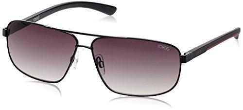 IDEE Square Sunglasses (IDS1853C2SG|53|Shiny Black and Matt Red ) image