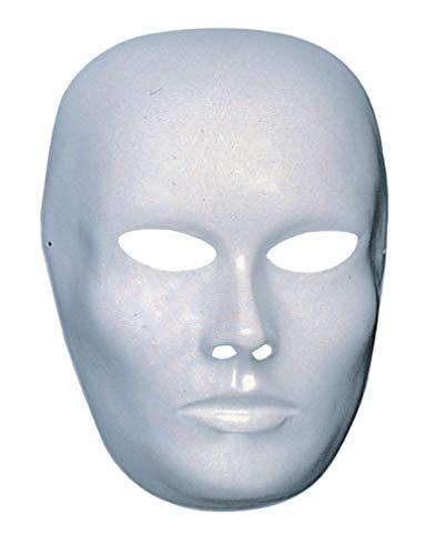 Horror-Shop Weiße Gesichts Maske geschlossener Mund (Halloween Ideen Für Gesicht Bemalen)