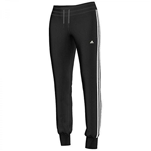 adidas Damen Hose Bekleidung ESS 3S Pants, Schwarz/Weiß, XXSL, S21004