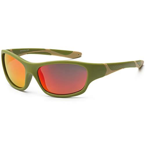 KOOLSUN - Sport - Kinder Sonnebrille - Army Green Taos Taupe - 6+ (6-12 Jahre)