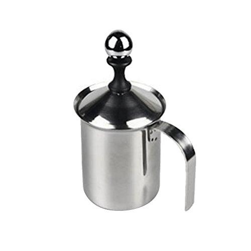 LOVIVER 400ml Edelstahl Mesh Kaffee Milch Schäumer Schaum Milch Pumpe Creamer (Mesh Edelstahl 400)